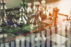Concetto del gioco di scacchiera delle idee di affari Immagine Stock