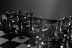 Concetto del gioco di scacchiera del gruppo di affari Fotografia Stock Libera da Diritti