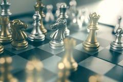 Concetto del gioco di scacchiera del gruppo di affari Fotografia Stock
