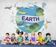 Concetto del globo di conservazione dell'ambiente di ecologia della terra Immagine Stock Libera da Diritti
