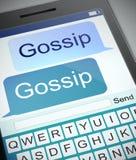 Concetto del gossip Fotografie Stock