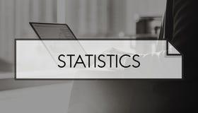 Concetto del grafico del mercato della raccolta di dati di statistica Fotografie Stock Libere da Diritti