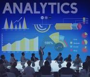 Concetto del grafico di affari di percentuale di analisi dei dati Immagine Stock