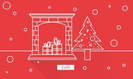 Concetto del grafico di godimento di celebrazione di Natale illustrazione di stock