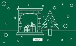 Concetto del grafico di godimento di celebrazione di Natale royalty illustrazione gratis