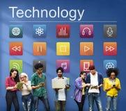 Concetto del grafico di Internet di Digital del collegamento di applicazione Fotografia Stock Libera da Diritti