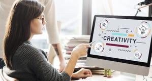 Concetto del grafico di invenzione di progettazione di idee di creatività immagine stock