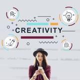 Concetto del grafico di invenzione di progettazione di idee di creatività fotografia stock libera da diritti