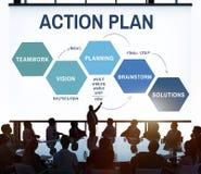 Concetto del grafico di processo di sviluppo di strategia del business plan Immagine Stock Libera da Diritti