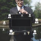 Concetto del grafico di professione di affari delle risorse umane Fotografia Stock Libera da Diritti