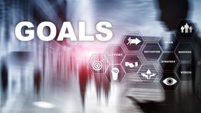 Concetto del grafico di risultato di aspettative di scopi dell'obiettivo Sviluppo di affari a successo ed a crescita crescente illustrazione di stock