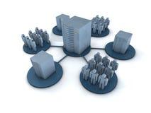 Concetto del Groupware Fotografia Stock