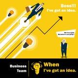 Concetto del gruppo 3 di affari di serie di idea di affari Fotografia Stock