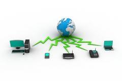 Concetto del home network Immagini Stock