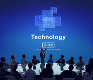 Concetto del homepage di evoluzione di Digital dell'innovazione di tecnologia immagini stock libere da diritti