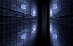 Concetto del Internet - codice binario Immagine Stock