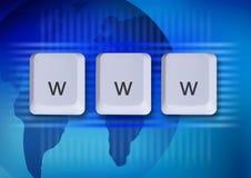 Concetto del Internet di WWW immagini stock