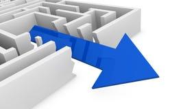 Concetto del labirinto Immagine Stock