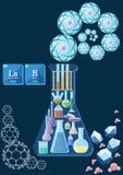 Concetto del laboratorio di scienza illustrazione di stock