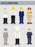 Concetto del lavoro di occupazione di lavoro dell'illustratore di vettore illustrazione di stock