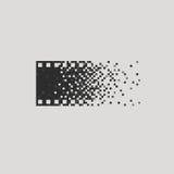Concetto del logotype della foto analogico-digitale contro Fotografia Stock