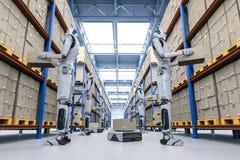 Concetto del magazzino di automazione illustrazione vettoriale