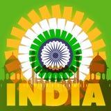 Concetto del manifesto dell'India Vettore eps10 Immagini Stock