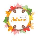Concetto del manifesto di autunno per progettazione royalty illustrazione gratis