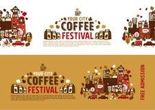 Concetto del manifesto di festival del caffè Fotografia Stock