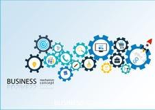 Concetto del meccanismo di affari - illustrazione Fotografia Stock Libera da Diritti
