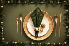 Concetto del menu di Natale Immagini Stock