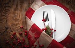 Concetto del menu di Natale Fotografie Stock Libere da Diritti