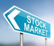 Concetto del mercato azionario Fotografia Stock Libera da Diritti