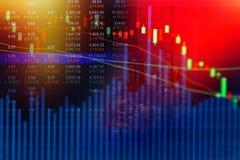 Concetto del mercato azionario con l'impianto offshore nel golfo Immagini Stock Libere da Diritti