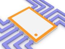 Concetto del microchip elettronico Fotografia Stock