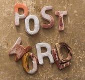 Concetto del mondo della posta Fotografie Stock Libere da Diritti