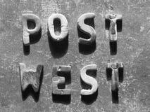 Concetto del mondo della posta Immagini Stock Libere da Diritti