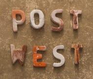 Concetto del mondo della posta Fotografia Stock Libera da Diritti