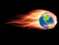 Concetto del mutamento climatico & di riscaldamento globale Fotografia Stock