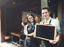 Concetto del negozio di Staff Working Coffee di barista fotografia stock libera da diritti