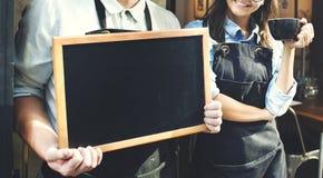 Concetto del negozio di Staff Working Coffee di barista fotografie stock