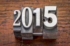 2015 - Concetto del nuovo anno Fotografie Stock
