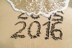Concetto 2016 del nuovo anno Immagine Stock Libera da Diritti
