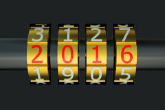 Concetto 2016 del nuovo anno illustrazione vettoriale