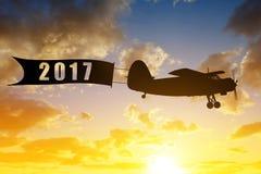 Concetto del nuovo anno 2017 Fotografia Stock Libera da Diritti