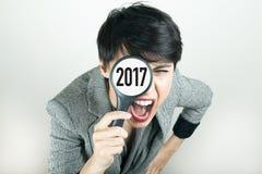 Concetto 2017 del nuovo anno Fotografie Stock