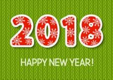 Concetto 2018 del nuovo anno Immagini Stock