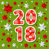 Concetto 2018 del nuovo anno Immagine Stock Libera da Diritti