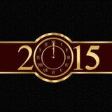 Concetto 2015 del nuovo anno con l'orologio Fotografia Stock Libera da Diritti