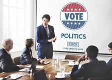 Concetto del partito di governo di elezione di voto di politica fotografie stock libere da diritti